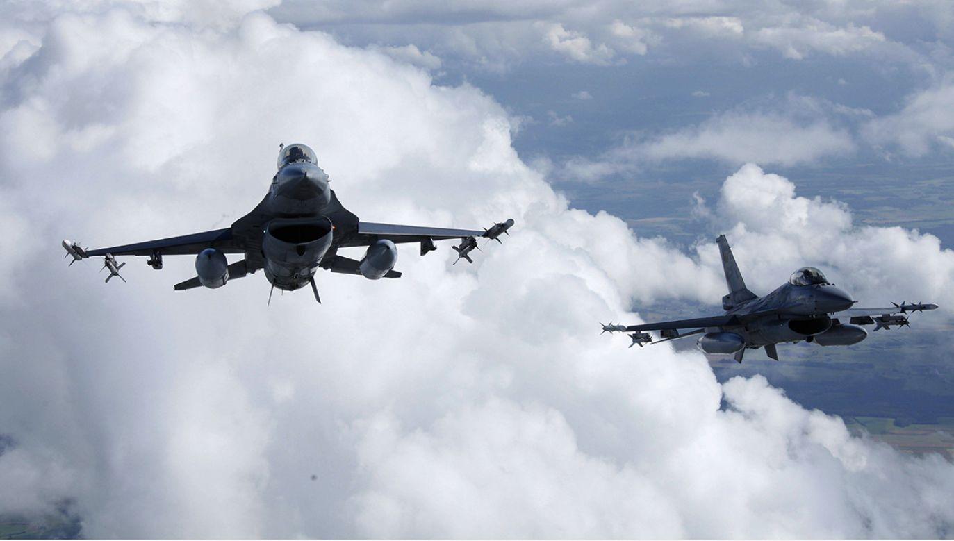 W akcji brały udział belgijskie F-16 (fot. BELGIUM-BRUSSELS-MILITARY)