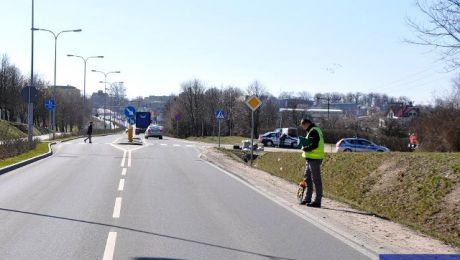 Wypadek na ulicy Olsztyńskiej w Działdowie