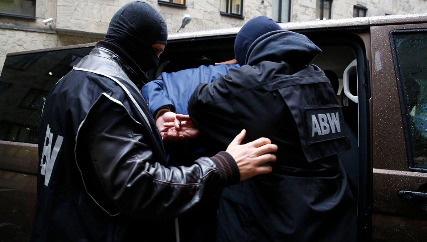Do zatrzymania Wojciecha S. doszło we wtorek w podwarszawskich Markach (fot. abw.gov.pl)