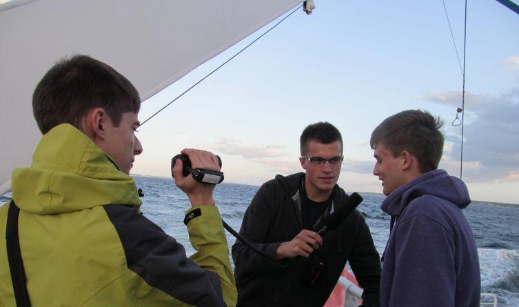 Wakacje 2013 r.Trzej licealiści, laureaci konkursu pt.