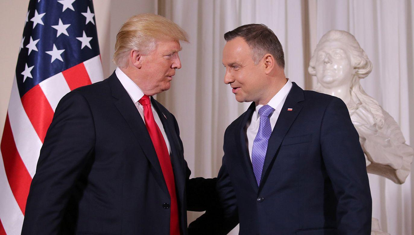 Prezydent USA Donald Trump i Prezydent RP Andrzej Duda (fot. REUTERS/Carlos Barria)