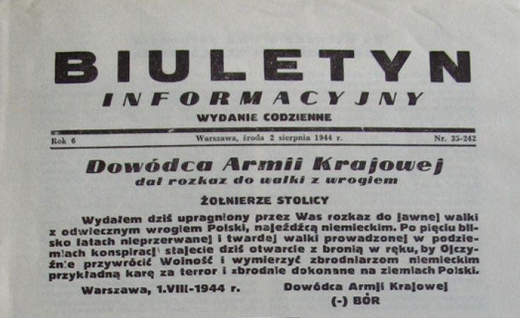 Biuletyn Informacyjny z 2 sierpnia 1944 r.