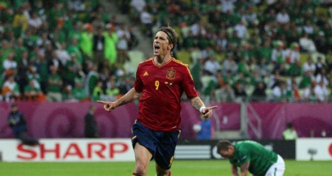Na Euro 2012 Hiszpan zdobył dwa gole w meczu z Irlandią (fot. Getty Images)