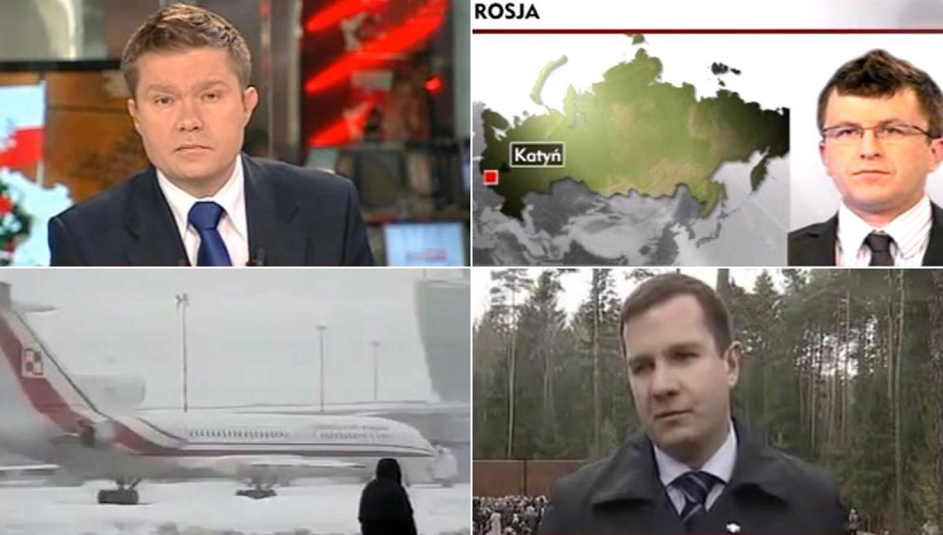 Katastrofa w relacjach dziennikarzy (fot. TVP Info)