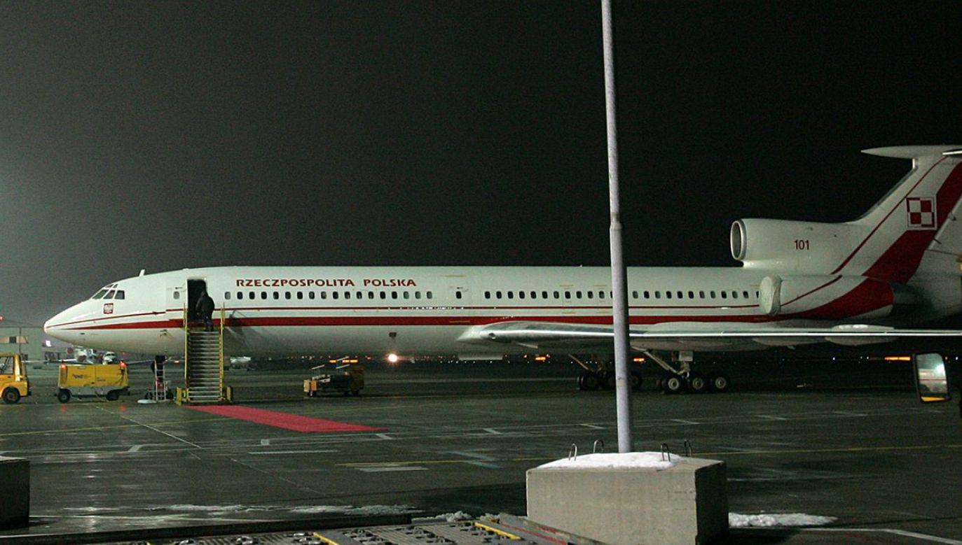 Rządowy samolot Tu-154 M (fot. PAP/Jacek Turczyk)