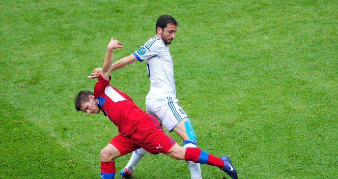 Efektowny taniec piłkarzy obu drużyn (fot. Getty)