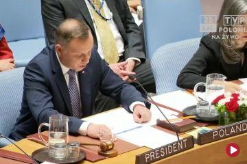 Prezydent na forum ONZ