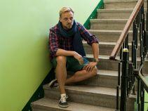 ... a Krzysiek pod drzwiami Marty ma szansę zbudować swoje życie na nowo (fot. A. Grochowska)