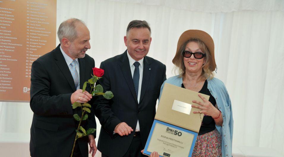 Katarzyna Gaertner, kompozytorka wielu festiwalowych przebojów (fot. Ireneusz Sobieszczuk/TVP)