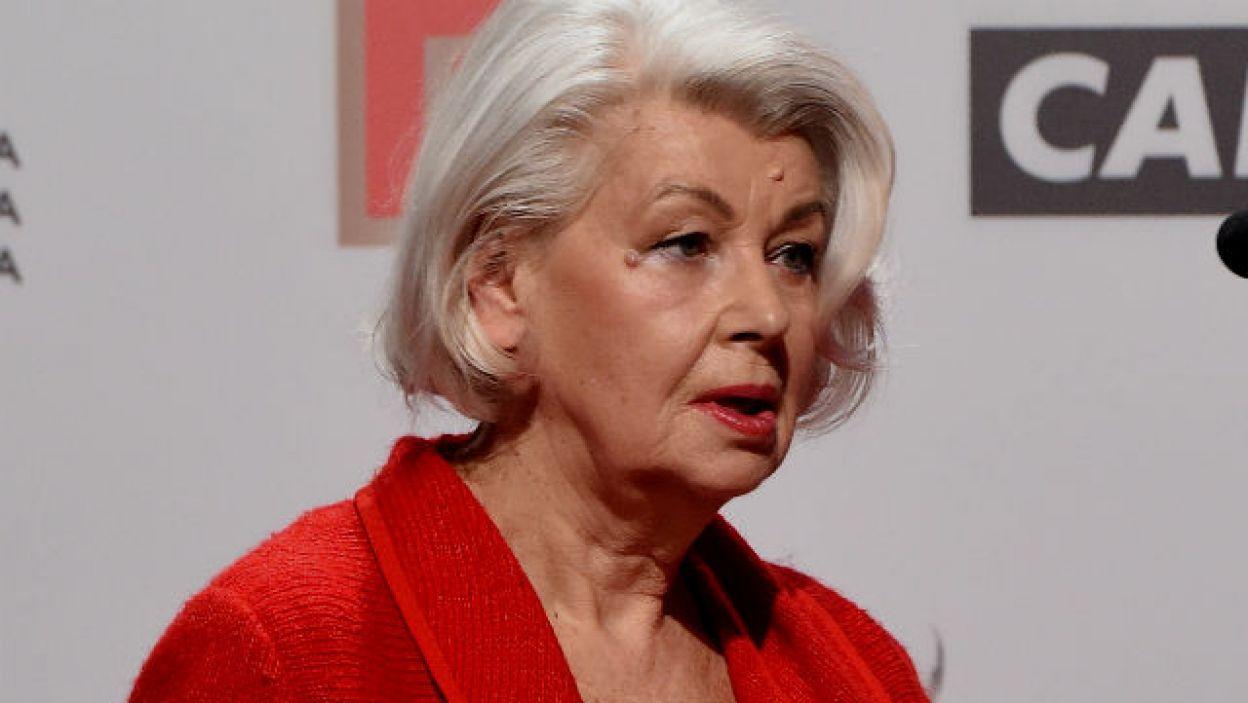 Scenograf Ewa Braun ogłasza nominacje do Orłów 2018 (fot. PAP/Radek Pietruszka)