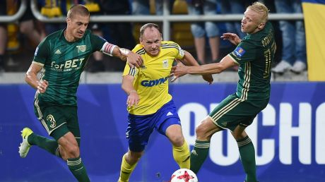 Od lewej: Piotr Celeban, Rafał Siemaszko i Mariusz Pawelec (fot. PAP/Jan Dzban)