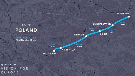 Kolej przyszłości w Polsce? (fot. Hyperloop One)
