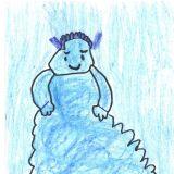 Chmurcia narysowana przez Adama Kostorza, 7 lat, Ruda Śląska