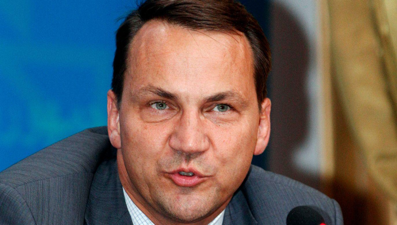 Były szef dyplomacji Radosław Sikorski (fot. REUTERS/Karim Kadim/Pool)