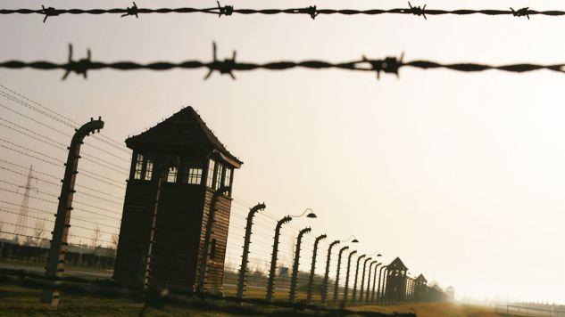 Izolatory leżały przy ogrodzeniu byłego niemieckiego obozu Auschwitz II-Birkenau (fot. Scott Barbour/Getty Images)