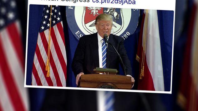 Donald Trump chce by inne kraje NATO miały taki sam wkład, jak Polska (fot. twitter.com)