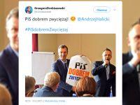 """""""PiS dobrem zwyciężaj"""". Opozycja przygotowała plakaty"""