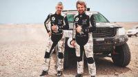 Rozwadowski i Vanagas podczas 5.etapu Rajdu Dakar ((fot. Facebook/Sebastian Rozwadowski)