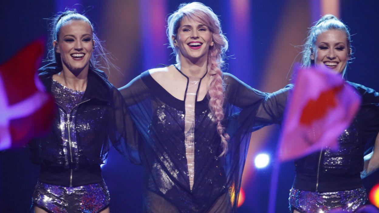 """Reprezentantka Słowenii wykonała utwór, który z łatwością wpada w ucho. Czy Europa pokochała """"Hvala, ne""""? (fot. Andres Putting/eurovision.tv)"""