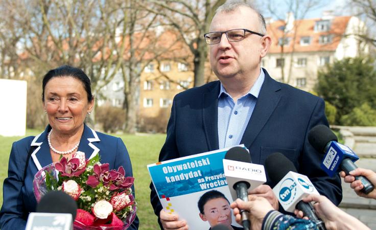 Alicja Chybicka i Kazimierz Michał Ujazdowski (fot. PAP/Maciej Kulczyński)