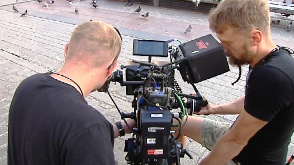 Akcja obrazu rozgrywa się w Krakowie, tu zdjęcia potrwają jeszcze do połowy października (fot. TVP3 Kraków)
