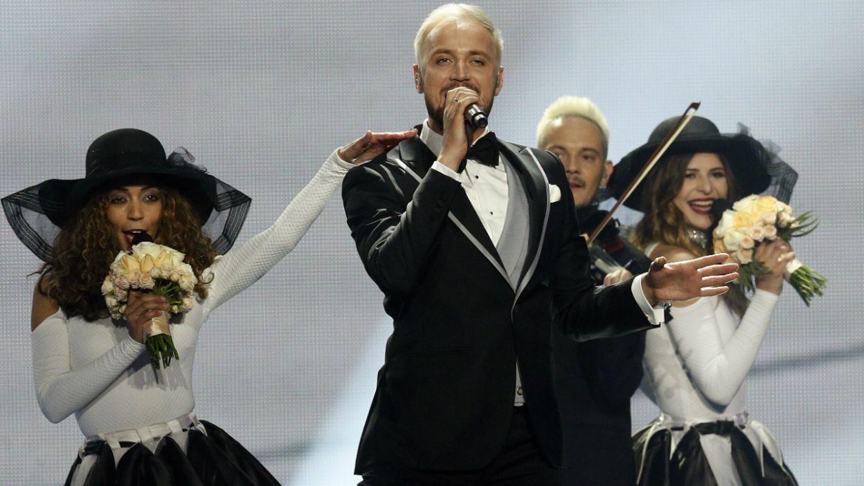 """Grupa z Mołdawii o tym, że będzie w finale dowiedziała się jako pierwsza. Dyskotekowe rytmy """"Hey Mamma"""" łatwo wpadły w ucho publiczności (fot. PAP)"""