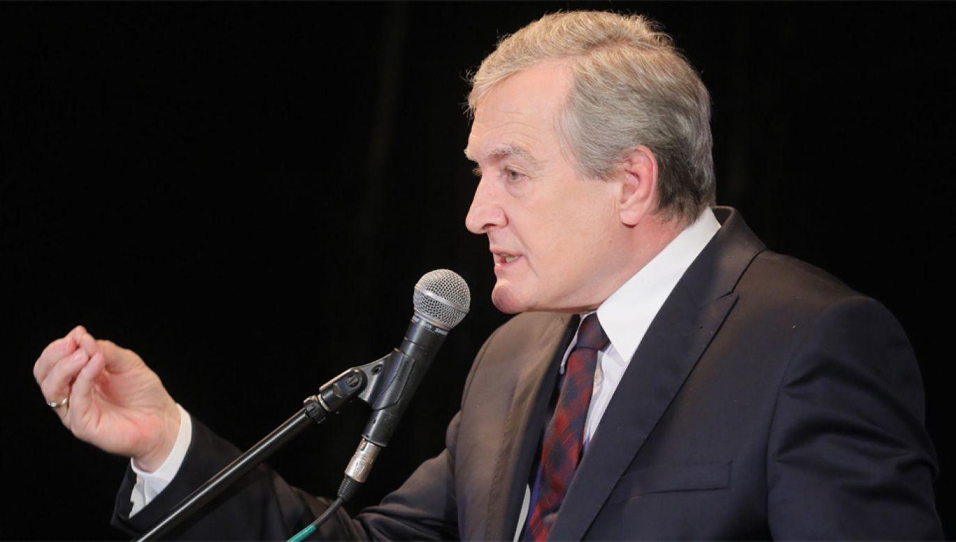 Wicepremier Piotr Gliński uważa, że Polska padła ofiara wewnętrznej polityki Izraela (fot. PAP/Paweł Supernak)