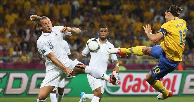 Zlatan Ibrahimović strzelił jednego z najładniejszych goli na Euro (fot. Getty)