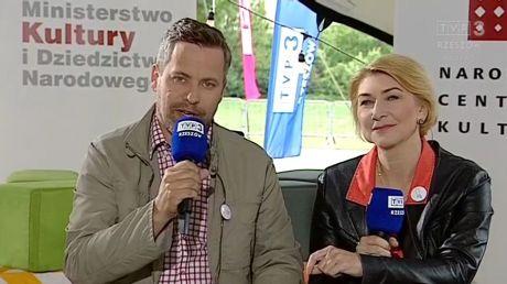 Ilona Małek i Marcin Pawlak w studiu festiwalowym