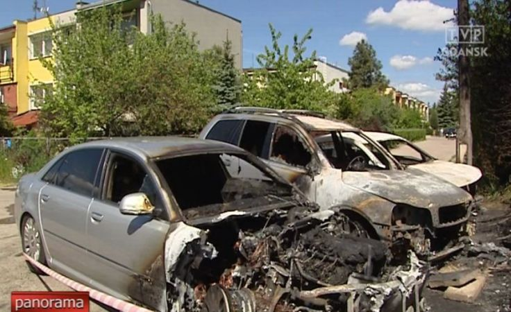 Znowu podpalono samochody w Gdańsku