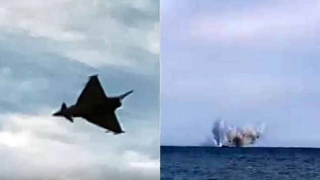 Samolot runął do morza na oczach widzą (fot. youtube.com)