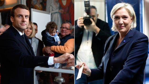 Największe szanse na drugą turę mają Emmanuel Macron i Marine Le Pen (fot. PAP/EPA/ERIC FEFERBERG//IAN LANGSDON)