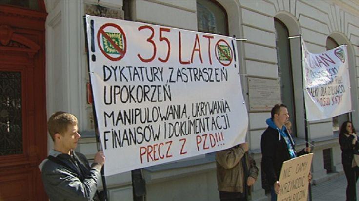 Protest działkowców w Łodzi 02.04.2016