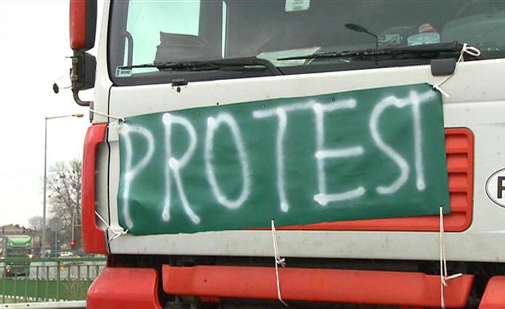 Protest podwykonawców obwodnicy Przemyśla