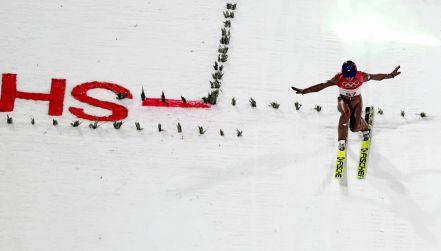 Pjongczang, skoki narciarskie, 1. seria: skok Kamila Stocha