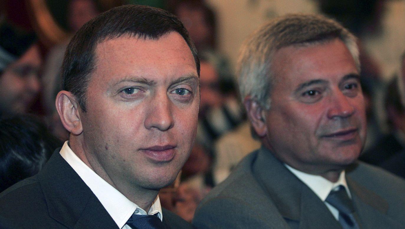 Oleg Deripaska i szef Łukoilu Wagit Alikperow (P) (fot. Pressphotos/Getty Images)