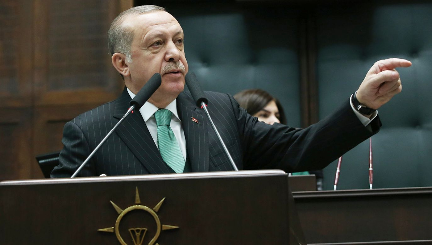 Prezydent Turcji Recep Tayyip Erdoğan (fot. PAP/EPA/TURKISH PRESIDENTAL PRESS OFFICE HANDOUT)