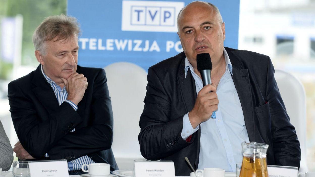 """Wojciech Tomczyk, autor """"Norymbergi"""" i """"Breakoutu"""", przygotowuje sztukę """"Marszałek"""" – o Józefie Piłsudskim (fot. TVP)"""