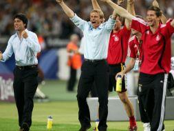 Joachim Loew (L) i Juergen Klinsmann (Ś) (fot. Getty Images)
