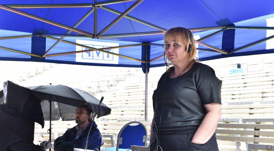 Halina Przebinda jest autorem scenariusza i reżyserem koncertu (fot. Ireneusz Sobieszczuk)