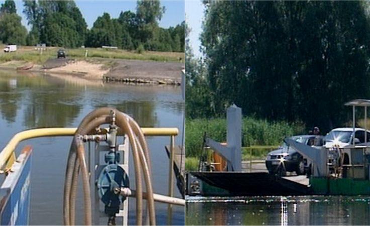 Niski poziom wody w Odrze. Przeprawy promowe zawieszone