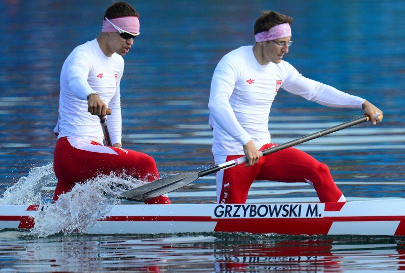 Polacy Tomasz Kaczor i Marcin Grzybowski zwyciężyli w finale B konkurencji C2 na 1000 metrów (fot. Getty Images)