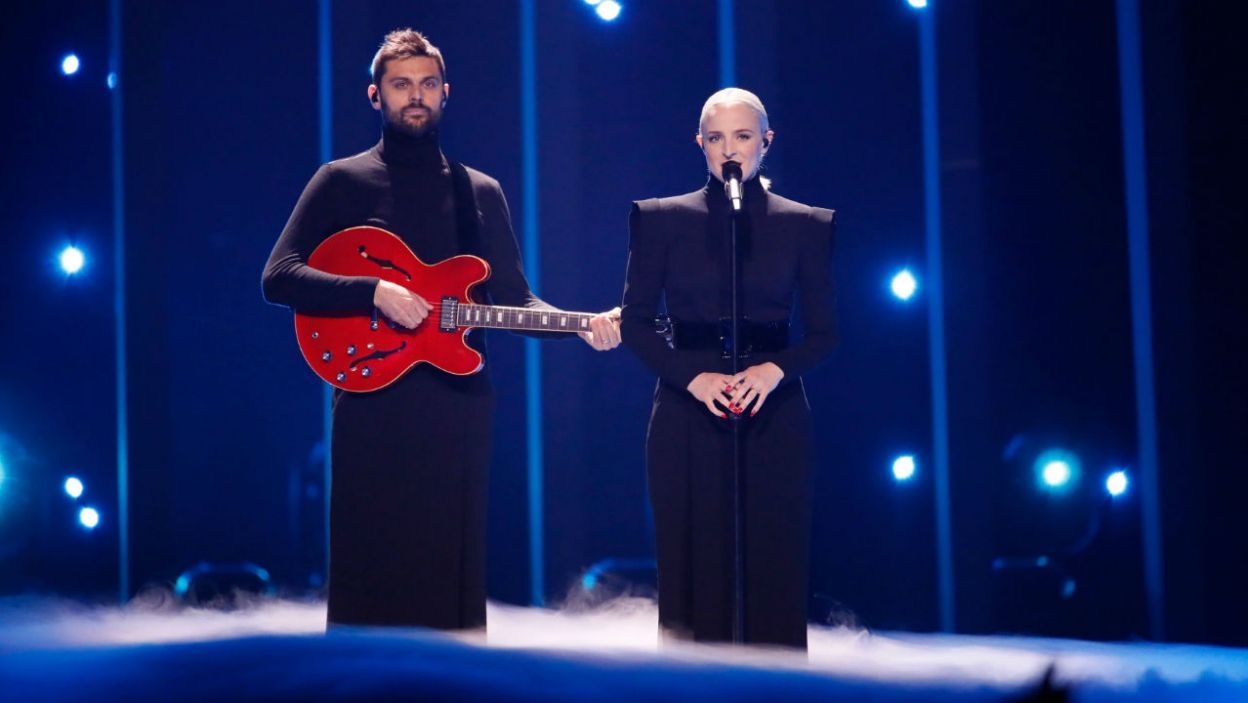 """Francja postawiła na prosty występ łączący w sobie pop i elektronikę. Utwór """"Mercy"""" Madame Monsieur zrobił ogromnie wrażenie (fot. Andreas Putting/eurovision.tv)"""