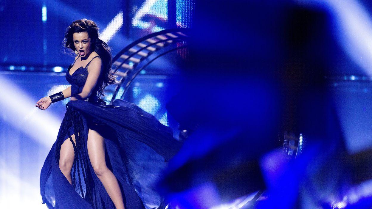 """Kolejną uczestniczką, która ma szansę na wygraną jest Mariya Yaremchuk z Ukrainy ze swoją piosenką """"Tick-Tock"""" (fot. PAP/EPA)"""