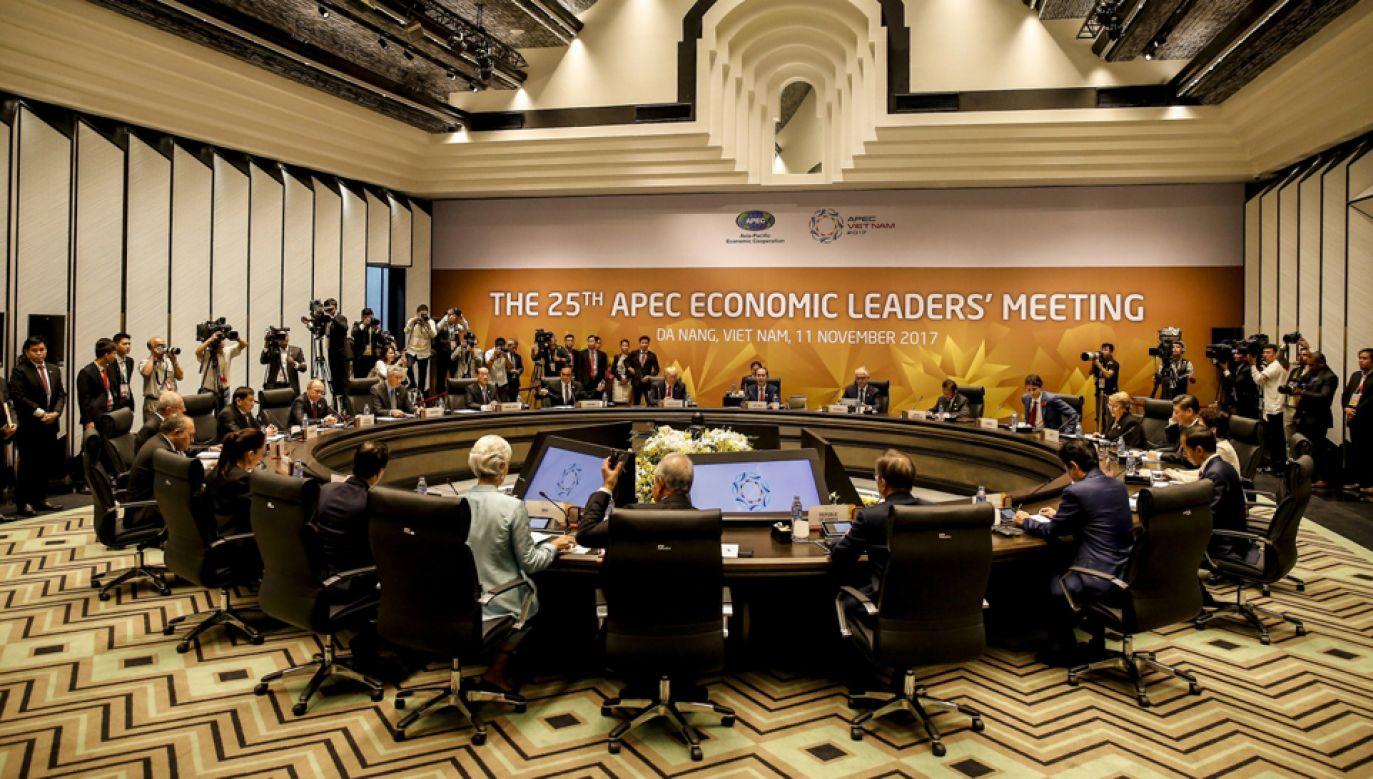 Przeydent USA potwierdził na szczycie APEC w Danang negatywne stanowisko wobec TPP  (fot. PAP/EPA/WALLACE WOON))
