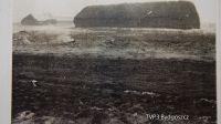 Samolot rozbił się na polach, na których były stogi słomy konopi