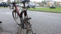 Prowadzący ten rower mężczyzna, nie przeżył wypadku pod Lubrańcem