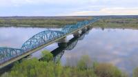 Wisła z lotu ptaka w okolicy mostu w Fordonie (fot. Łukasz Boruta)