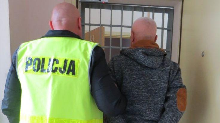 Pijany mężczyzna został zatrzymany (fot. KWP Olsztyn)