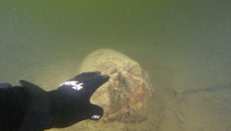 Bombowiec w jeziorze. Płetwonurkowie szukali części samolotu